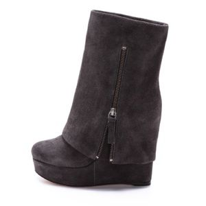 Alice + Olivia Suede Yeardley Cuff Boots